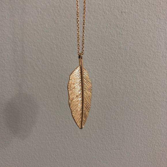 Forever 21 Jewelry - Gold Feather Necklace